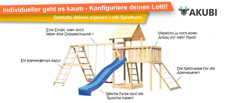 AKUBI Spielturm Lotti Konfigurator
